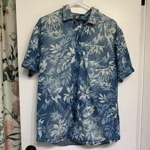 Coastal mens short sleeve button down floral shirt